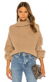 ANINE BING Sydney Sweater in Camel from Revolve com at Revolve