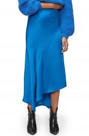ANNIE BING Bailey Asymmetrical Silk Skirt   Nordstrom at Nordstrom