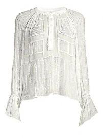 ANTIK BATIK - Birma Beaded Long Sleeve Blouse at Saks Fifth Avenue