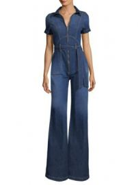 AO LA by alice   olivia - Gorgeous Collar Wide-Leg Jumpsuit at Saks Fifth Avenue