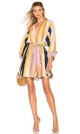 APIECE APART La Flutte Mini Dress in Olivio Stripe from Revolve com at Revolve