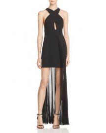AQ AQ Ailla Pleated Overlay Dress at Bloomingdales