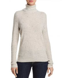 AQUA Cashmere Turtleneck Sweater at Bloomingdales