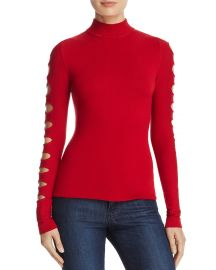 AQUA Cutout-Sleeve Sweater - 100  Exclusive at Bloomingdales