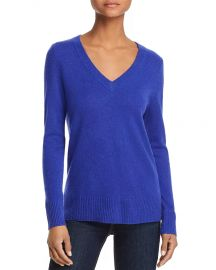 AQUA V-Neck Cashmere Sweater at Bloomingdales