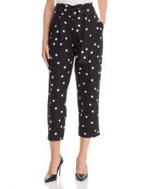 AQUA Belted Polka Dot Pants - 100  Exclusive Women - Bloomingdale s at Bloomingdales