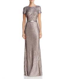 AQUA Belted Sequin Gown - 100  Exclusive Women - Bloomingdale s at Bloomingdales