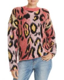 AQUA Brushed Leopard Print Sweater - 100  Exclusive  Women - Bloomingdale s at Bloomingdales