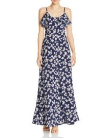 AQUA Button-Front Floral Maxi Dress - 100  Exclusive  Women - Bloomingdale s at Bloomingdales