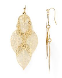 AQUA Calliope Leaf Drop Earrings at Bloomingdales