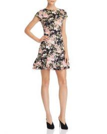 AQUA Cap-Sleeve Flounced Floral Dress - 100  Exclusive  Women - Bloomingdale s at Bloomingdales