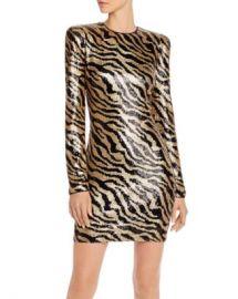 AQUA Capsule Zebra-Stripe Sequined Dress - 100  Exclusive  Women - Bloomingdale s at Bloomingdales