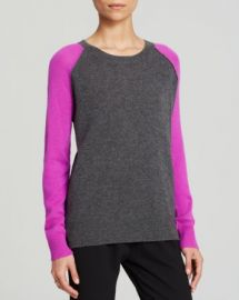 AQUA Cashmere Sweater - Baseball at Bloomingdales