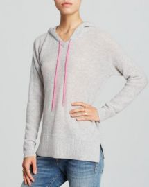 AQUA Cashmere Sweater - Honeycomb Shoelace Hoodie at Bloomingdales