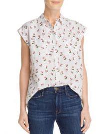 AQUA Cherry Print Shirt - 100  Exclusive  Women - Bloomingdale s at Bloomingdales