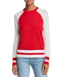 AQUA Color-Block Raglan Cashmere Sweater - 100  Exclusive  Women - Bloomingdale s at Bloomingdales