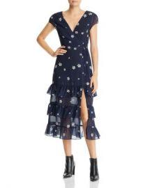 AQUA Daisy Faux-Wrap Floral-Print Midi Dress - 100  Exclusive Women - Bloomingdale s at Bloomingdales