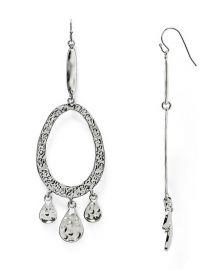 AQUA Diana Hammered Drop Earrings at Bloomingdales