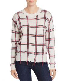 AQUA Distressed Plaid Cashmere Sweater - 100  Exclusive  Women - Bloomingdale s at Bloomingdales