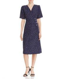 AQUA Dot Print Midi Wrap Dress - 100  Exclusive  Women - Bloomingdale s at Bloomingdales