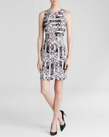 AQUA Dress - Daisy Stripe Scuba Bodycon at Bloomingdales