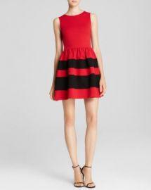 AQUA Dress - Stripe Skirt Ponte at Bloomingdales