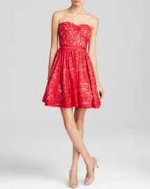 AQUA Dress - Sweetheart Neck Strapless Lace at Bloomingdales