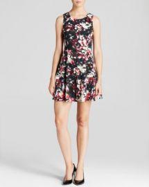 AQUA Dress - Willow Ponte Fit and Flare at Bloomingdales