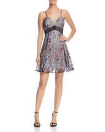 AQUA Embroidered Mesh Lace Cami Dress - 100  Exclusive at Bloomingdales
