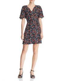 AQUA Floral Faux-Wrap Dress - 100  Exclusive  Women - Bloomingdale s at Bloomingdales