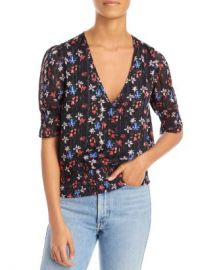 AQUA Floral Print Smocked Top - 100  Exclusive  Women - Bloomingdale s at Bloomingdales