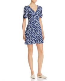 AQUA Floral Puffed-Sleeve Dress - 100  Exclusive Women - Bloomingdale s at Bloomingdales