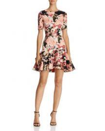 AQUA Floral Tiered-Hem Dress - 100  Exclusive at Bloomingdales