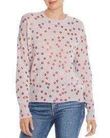 AQUA Foil Lips Print Cashmere Sweater - 100  Exclusive  Women - Bloomingdale s at Bloomingdales