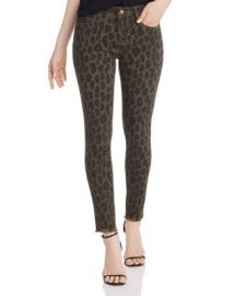 AQUA Frayed Ankle Skinny Jeans in Leopard - 100  Exclusive  Women - Bloomingdale s at Bloomingdales