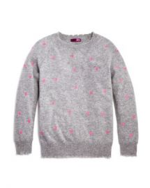 AQUA Girls  x27  Cashmere Embroidered Heart-Print Sweater  Big Kid - 100  Exclusive Kids - Bloomingdale s at Bloomingdales