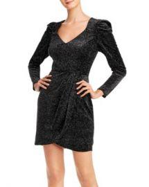 AQUA Glitter Velvet Puff-Sleeve Dress - 100  Exclusive  Women - Bloomingdale s at Bloomingdales