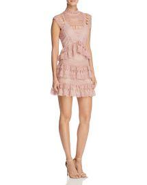 AQUA Lace Mock Neck Dress in Rose Dust at Bloomingdales