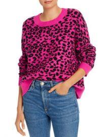 AQUA Leopard Jacquard Crewneck Sweater - 100  Exclusive  Women - Bloomingdale s at Bloomingdales