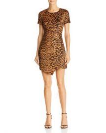 AQUA Leopard Print Faux Suede Dress - 100  Exclusive  Women - Bloomingdale s at Bloomingdales