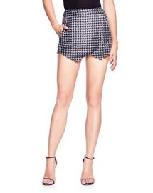 AQUA Mini Houndstooth Skort at Bloomingdales
