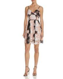 AQUA Multi Lace Empire Waist Cami Dress - 100  Exclusive at Bloomingdales