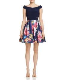 AQUA Off-the-Shoulder Illusion-Inset Dress - 100  Exclusive at Bloomingdales