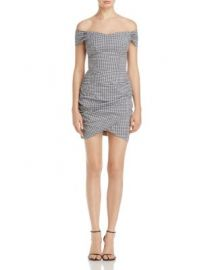 AQUA Off-the-Shoulder Wrap-Skirt Dress - 100  Exclusive at Bloomingdales