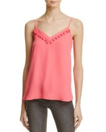 AQUA Pom-Pom V-Neck Camisole - 100  Exclusive at Bloomingdales