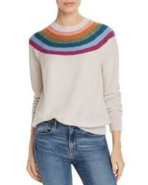 AQUA Rainbow-Stripe Cashmere Sweater - 100  Exclusive  Women - Bloomingdale s at Bloomingdales