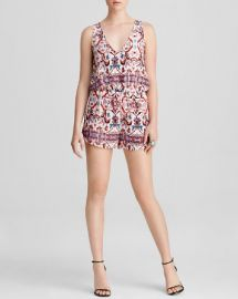 AQUA Romper - Ginger at Bloomingdales
