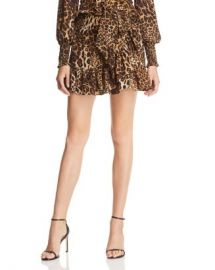 AQUA Ruffled Leopard Print Mini Skirt - 100  Exclusive  Women - Bloomingdale s at Bloomingdales