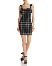 AQUA Ruffled Windowpane Dress - 100  Exclusive  Women - Bloomingdale s at Bloomingdales