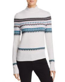 AQUA Scalloped Fair Isle Cashmere Sweater - 100  Exclusive  Women - Bloomingdale s at Bloomingdales